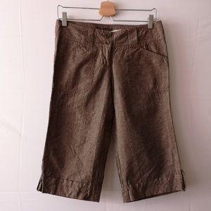 Dynamite Women's Long Shorts, Like New Linen-blend